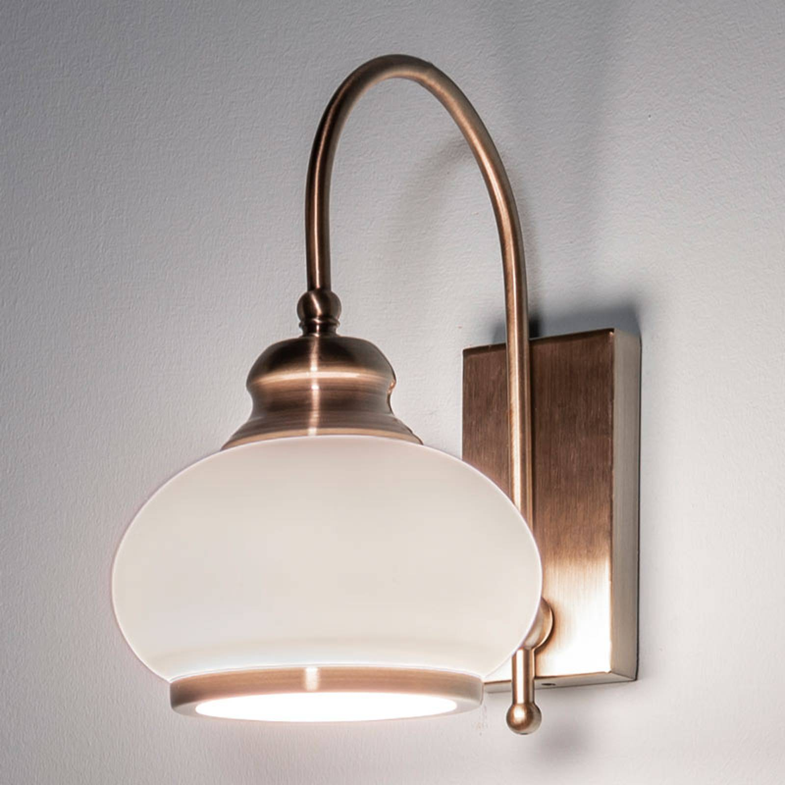 Wandlamp NOSTALGIKA, oud-messing