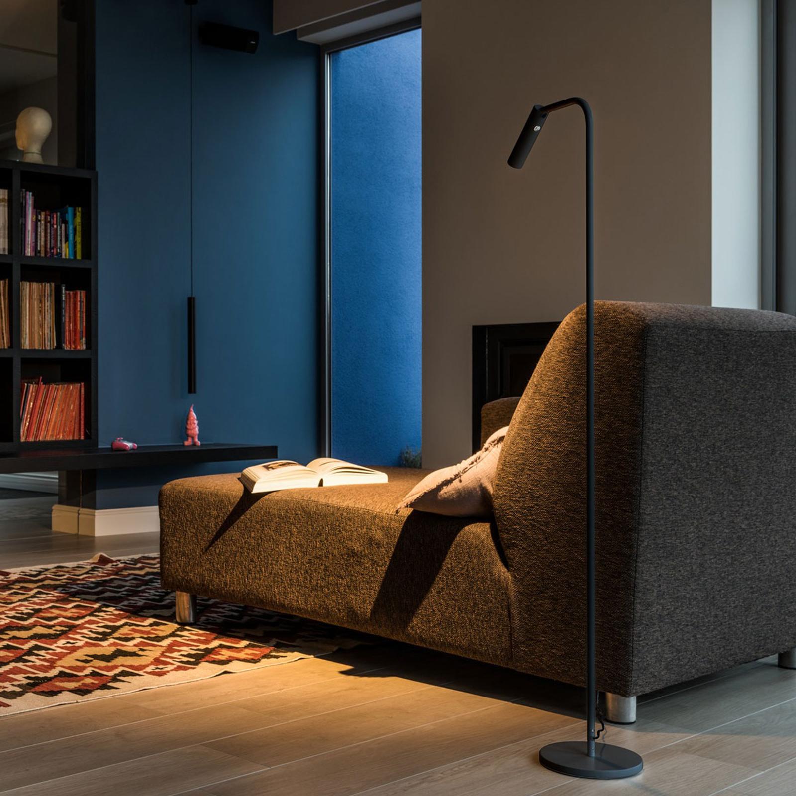 SLV Karpo lampa stojąca LED ze ściemniaczem czarna
