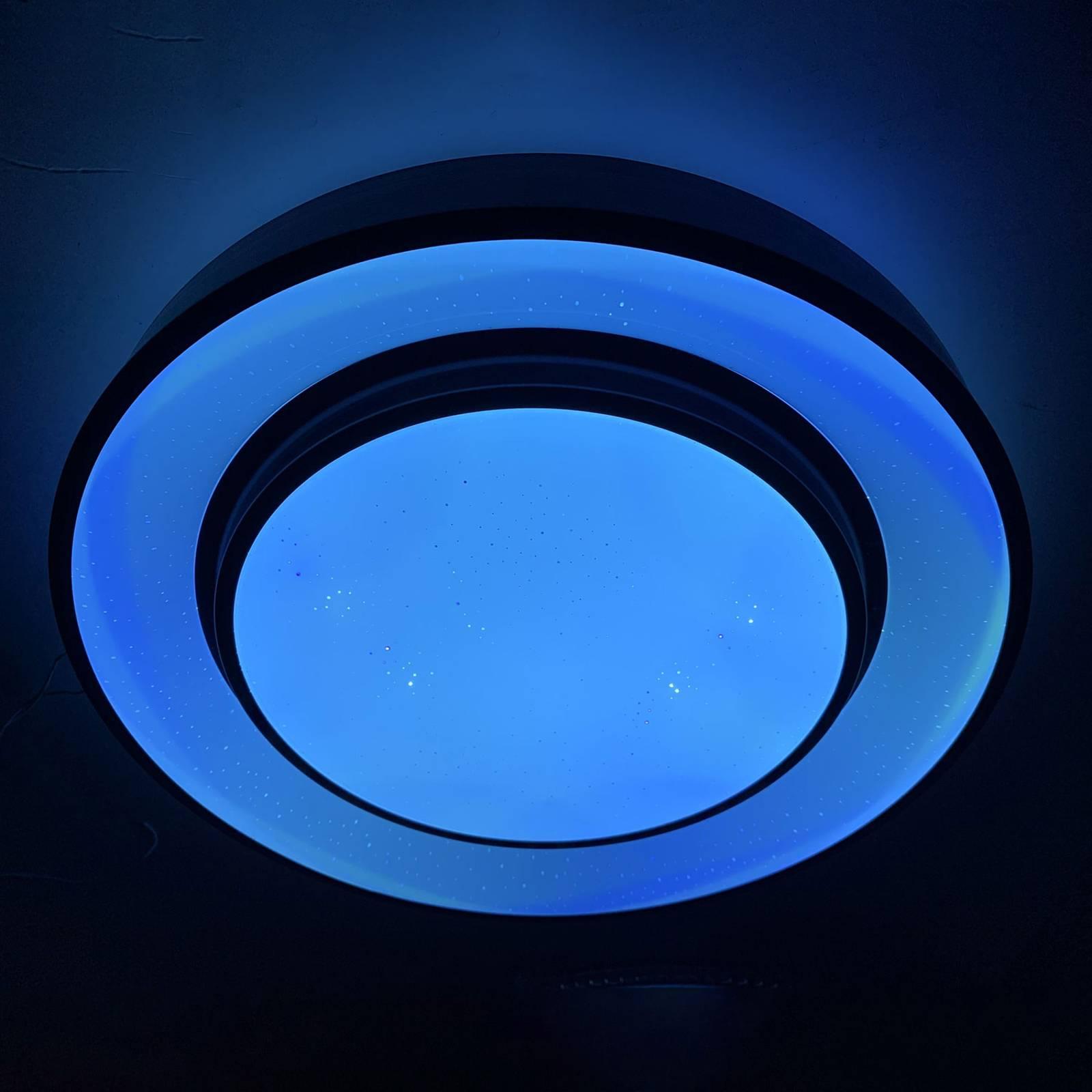 Lindby Gamino lampa sufitowa LED, RGBW, CCT, 38 cm