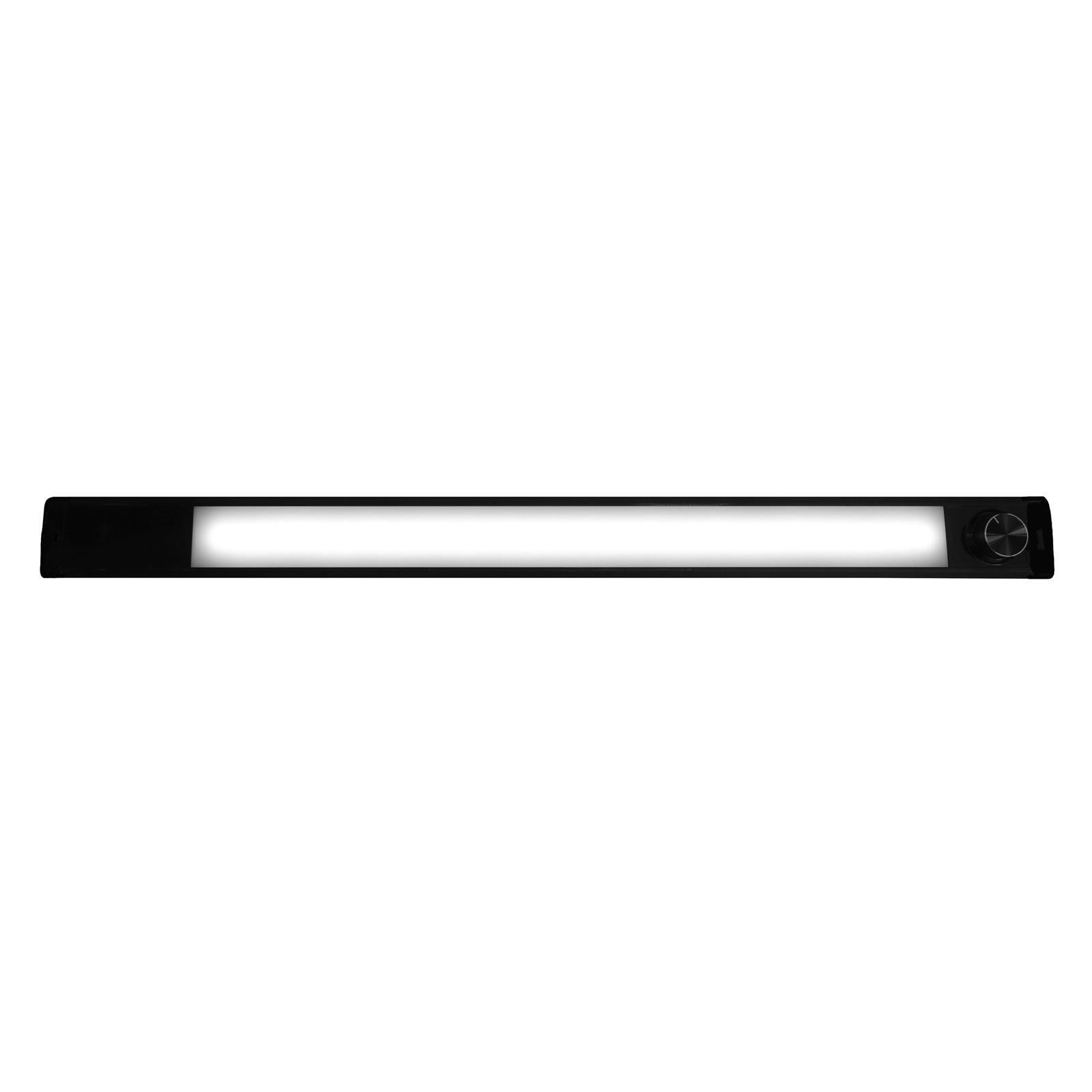 LED-bänklampa Calina 60 Switch Tone, svart