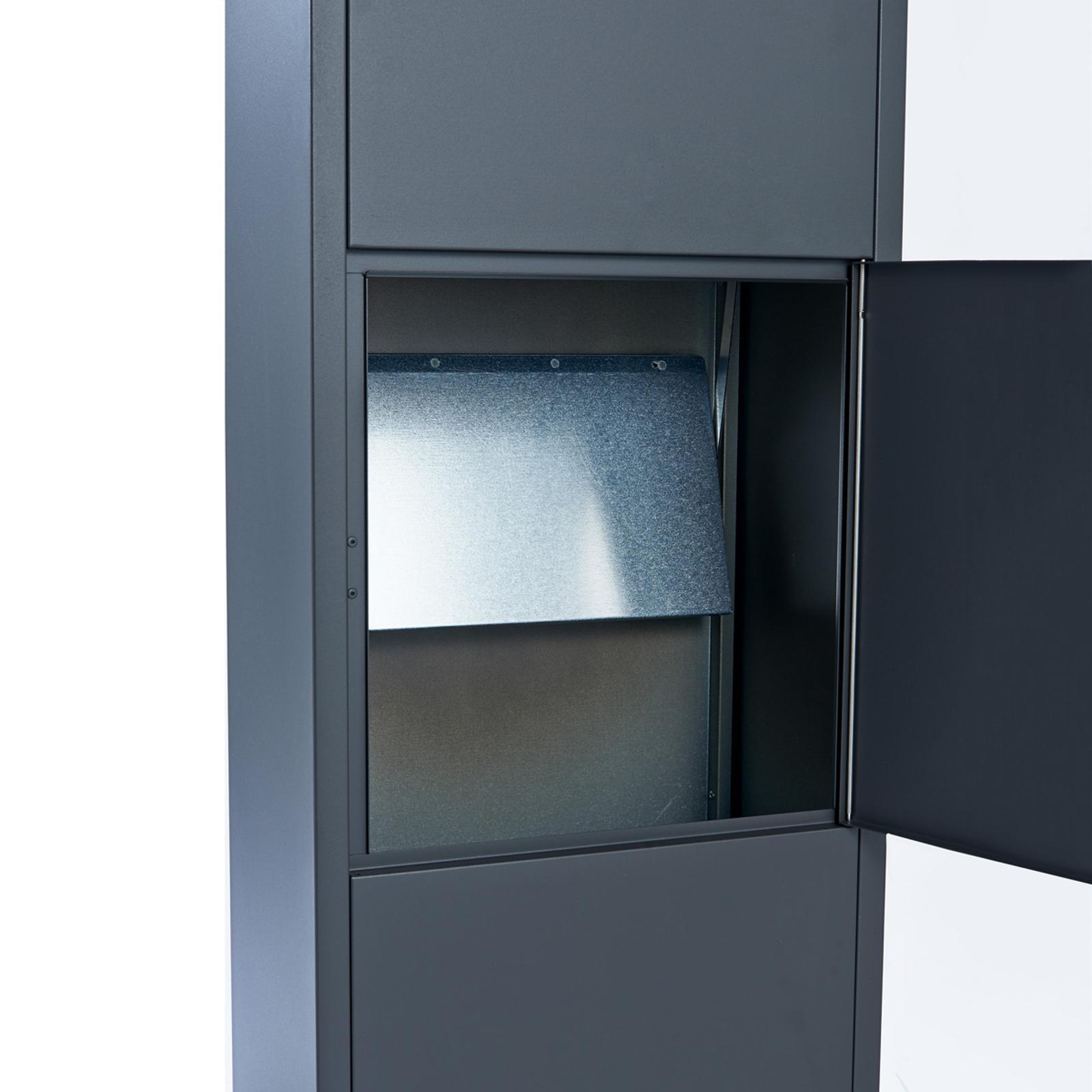 Cassetta postale 600 antracite con serratura RUKO