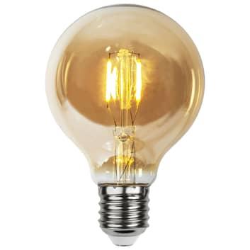 LED lamp E27 0,23W G80 filament 24V amber 4/set