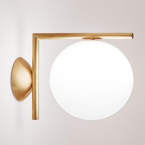IC C/W - lampa ścienna, FLOS, szczotk. mosiądz
