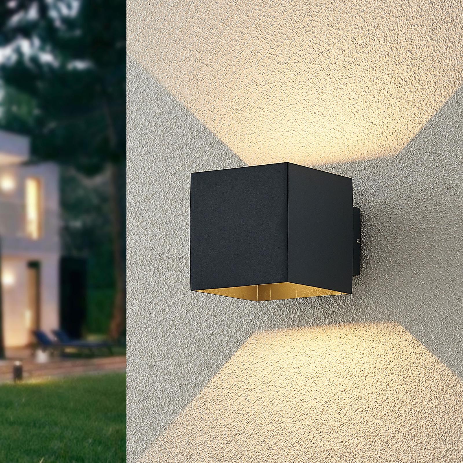 ELC Esani udendørs LED-væglampe, antracit