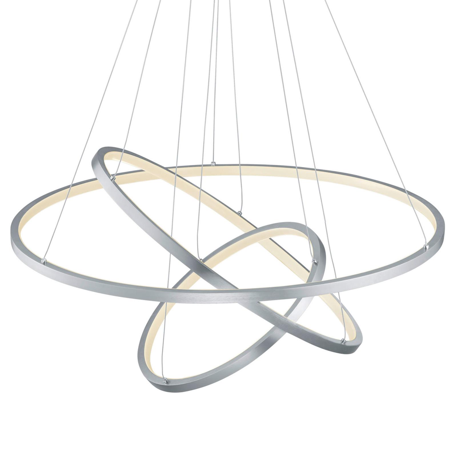 Trio WiZ Aaron lampa wisząca LED, nikiel matowy