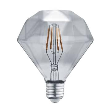 LED-Lampe E27 4W 3.000K Diamant Filament rauch