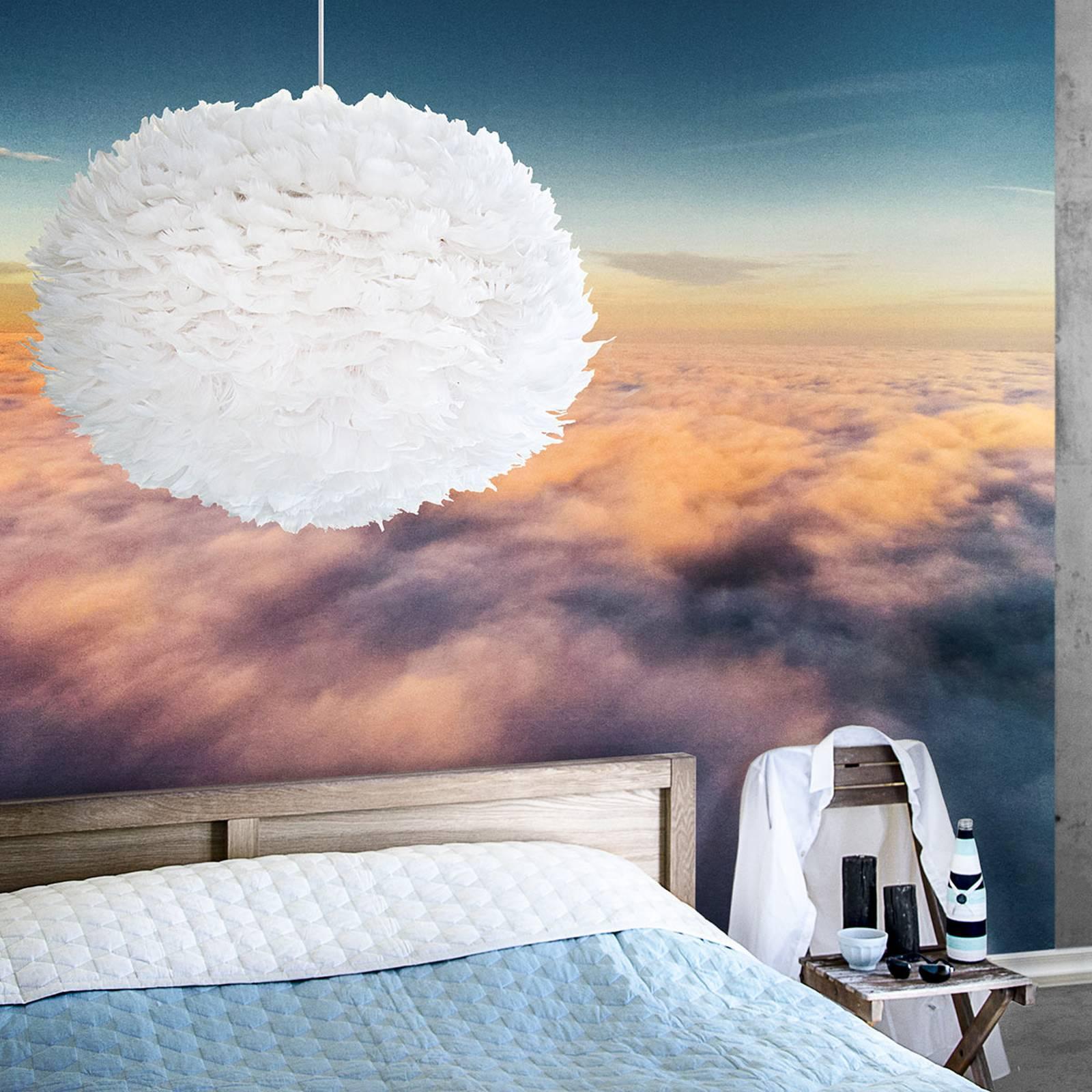 Bardzo duża lampa wisząca Eos z białym kloszem