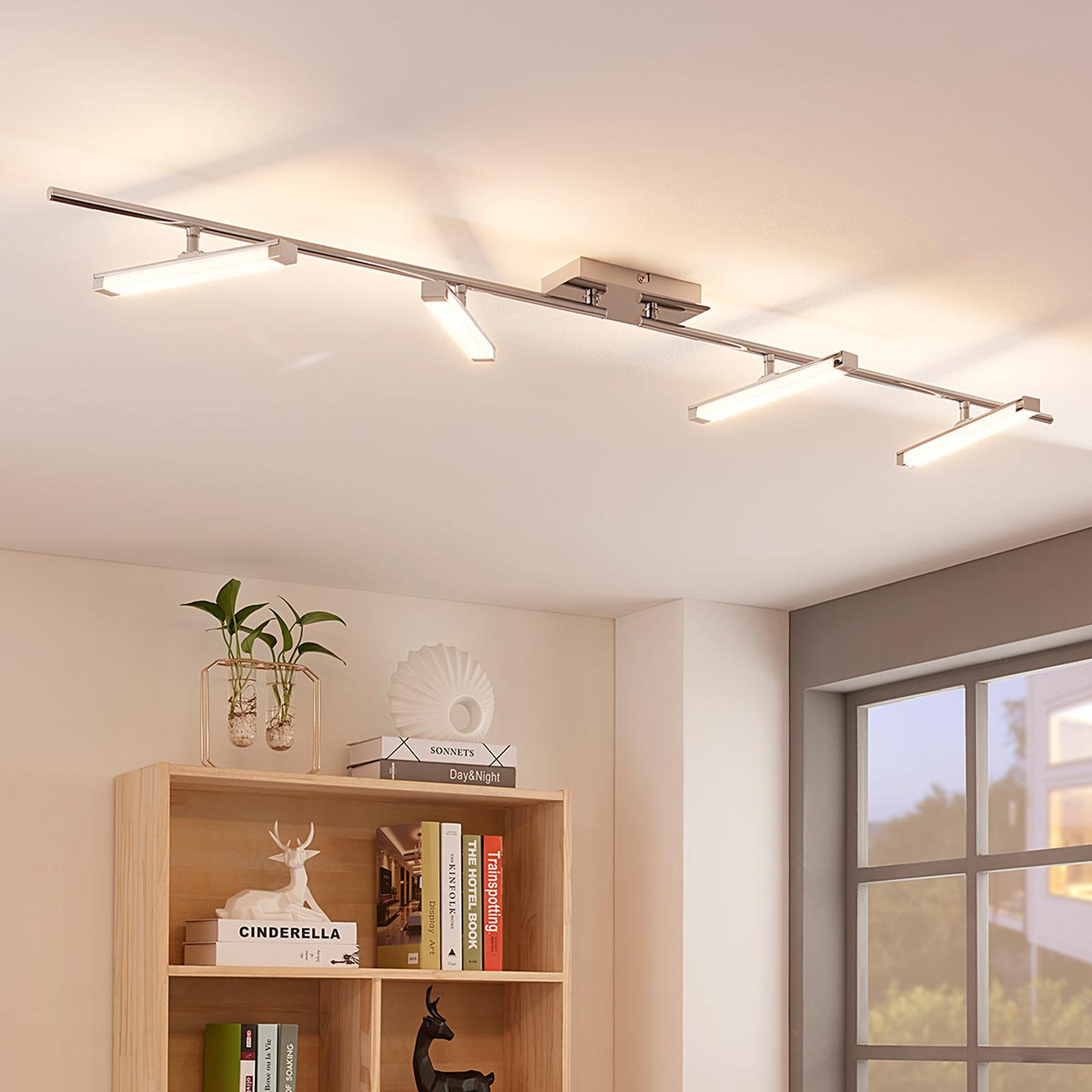 Pilou – 4-lamppuinen LED-kattovalaisin, himmennet.