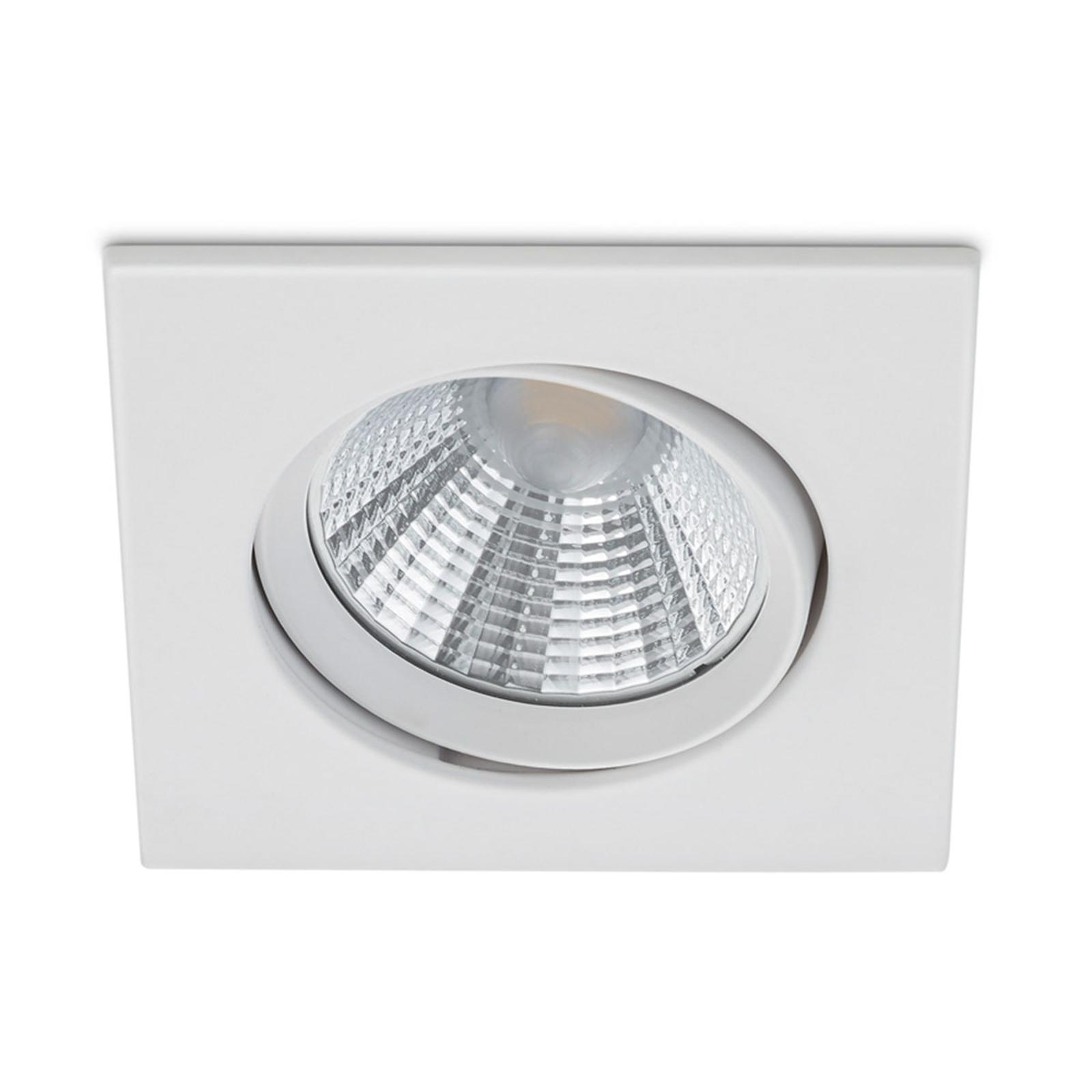 Dimmbarer LED-Einbaustrahler Pamir in mattem Weiß