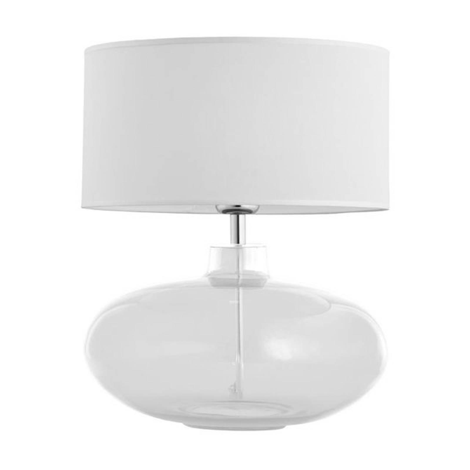 Lampe à poser Skien, blanc, transparent