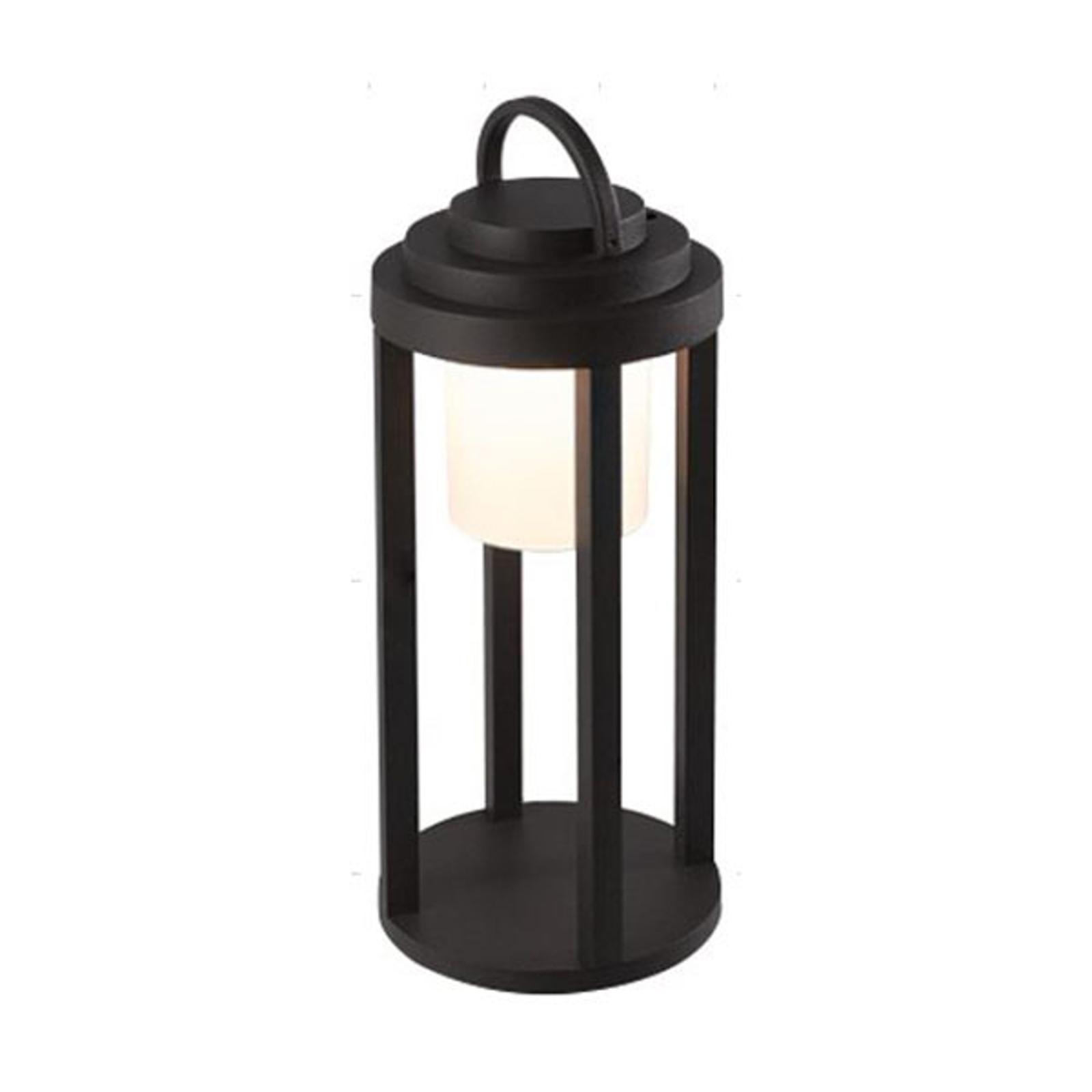 LED-Akkuaußenleuchte Kalimnos, schwarz, 35 cm
