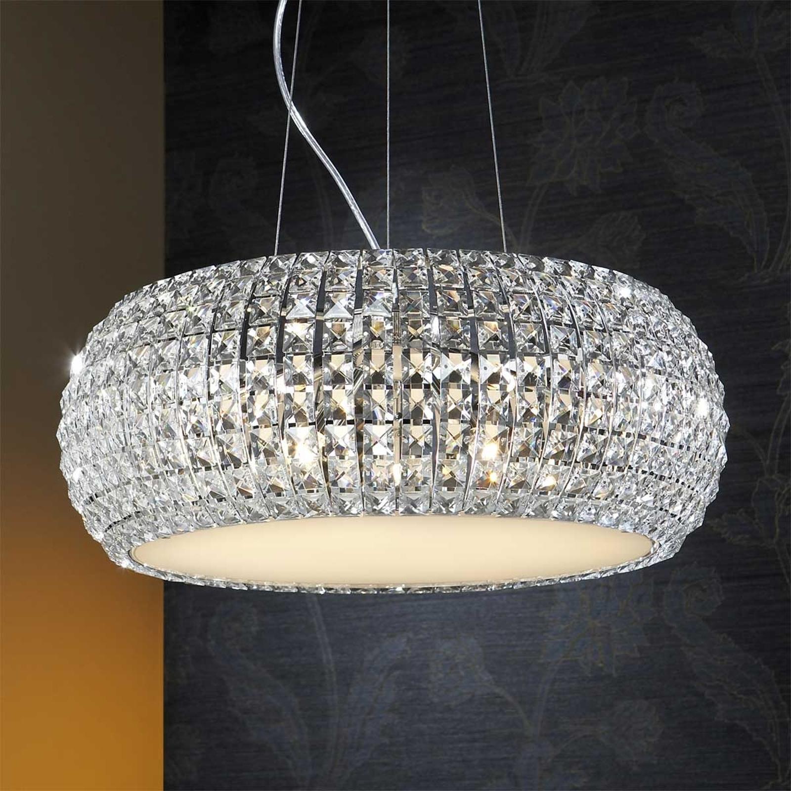 Mieniąca się lampa wisząca DIAMOND okrągła