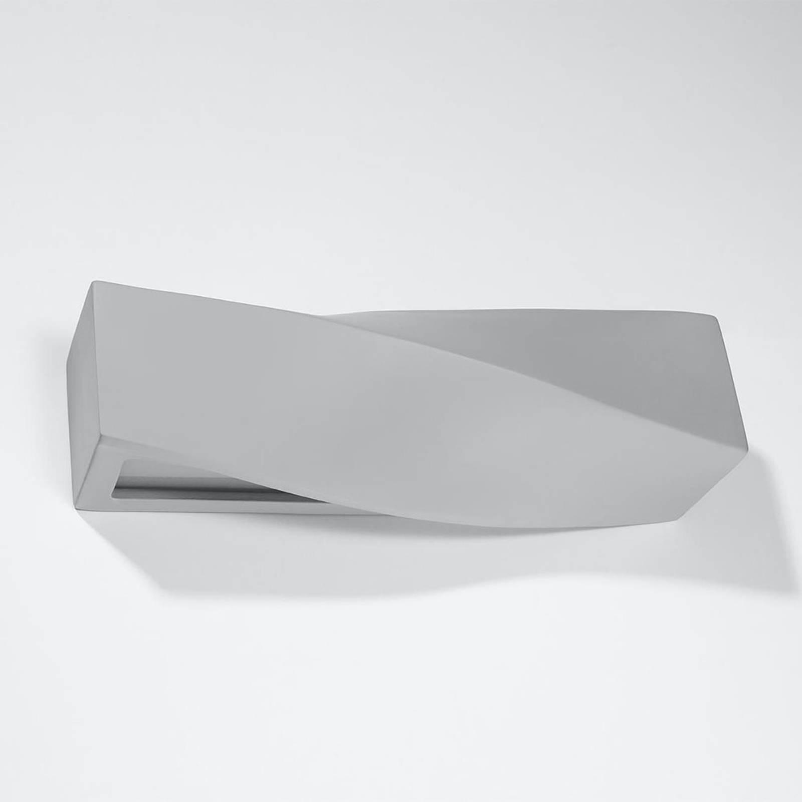 Wandleuchte Turn aus Keramik, up/down, grau