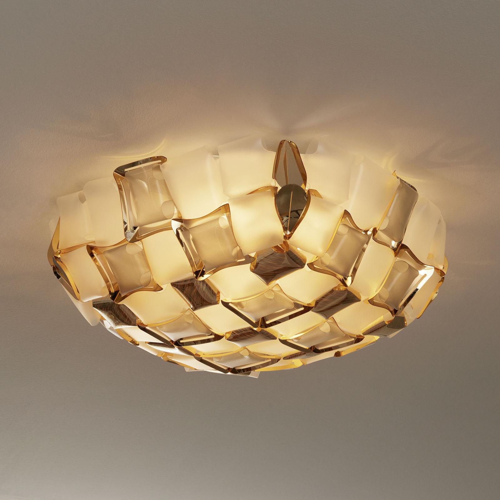 Slamp Mida ceiling light, Ø 67 cm, gold/white_8503422_1