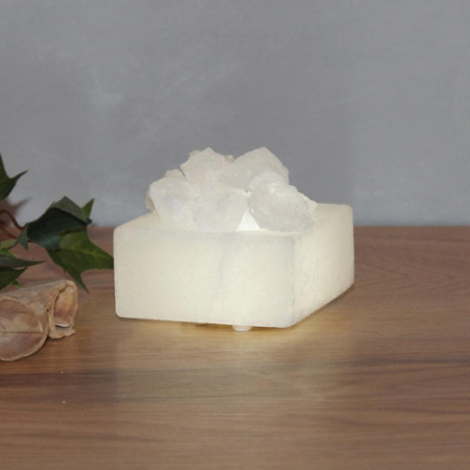 Kleine LED-Salzkristallschale Petite