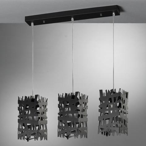 Hanglamp Foresta van metaal, 3-lamps