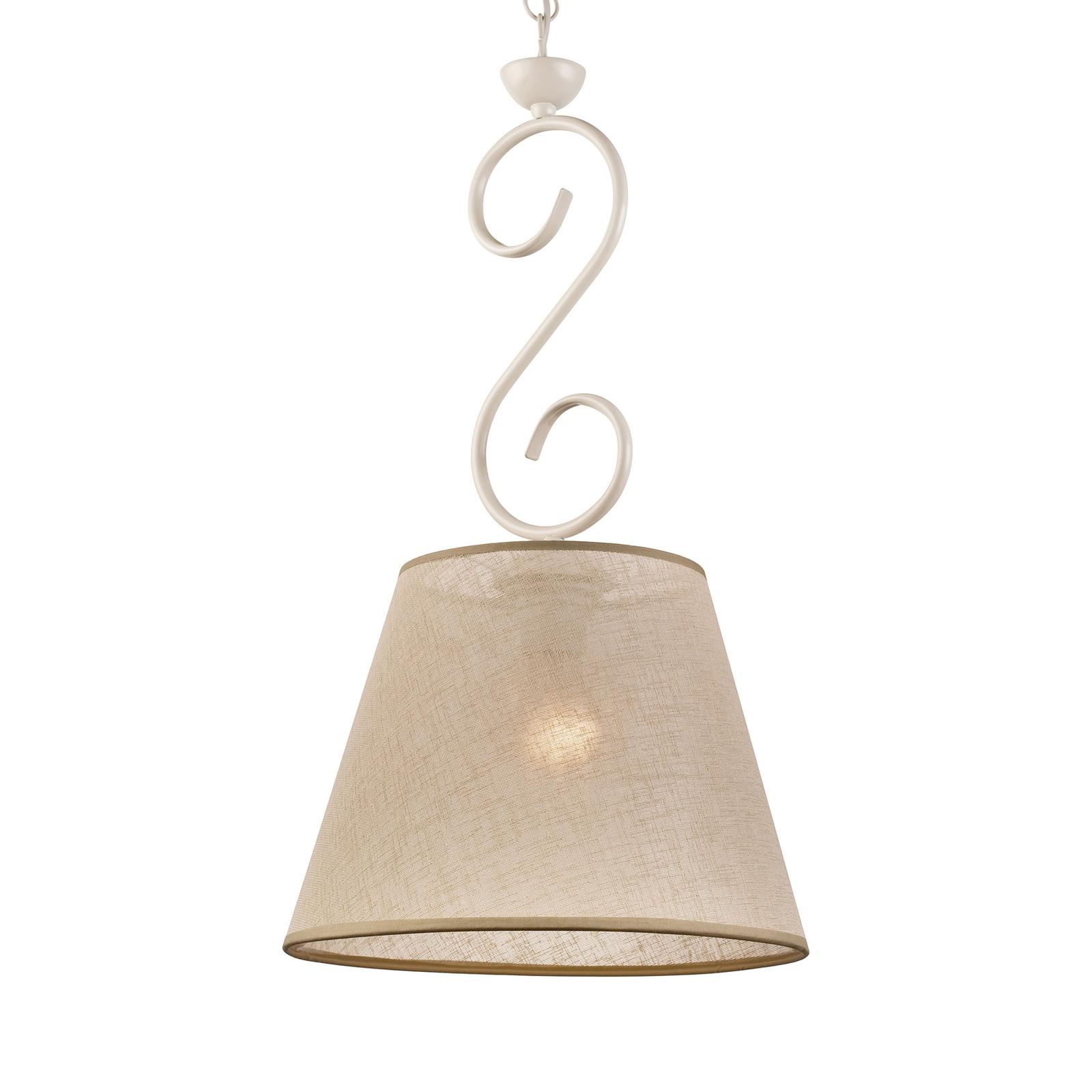 Tekstylna lampa wisząca Midgrad, biała