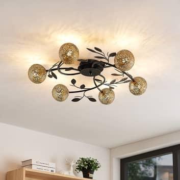 Lucande Evory loftlampe, rund, 6 lyskilder