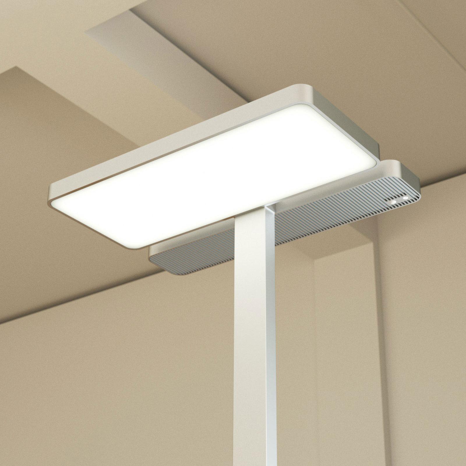 Lampa stojąca LED Aila, czujnik światła 4000K
