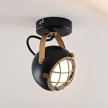 Lindby Dawid LED-loftspot, deko i guld 1 lyskilde