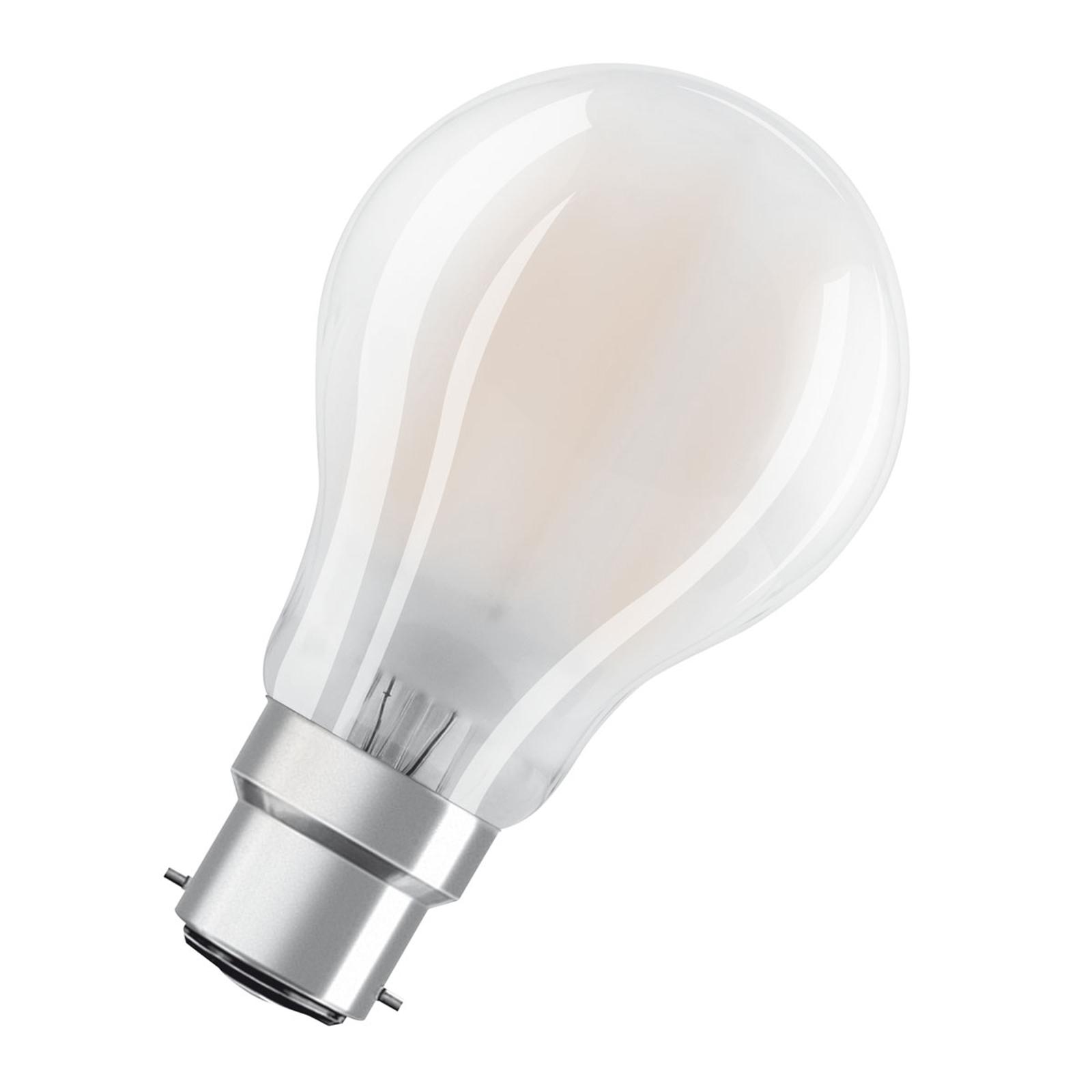 OSRAM LED-Lampe B22d Classic 827 7W dimmbar matt