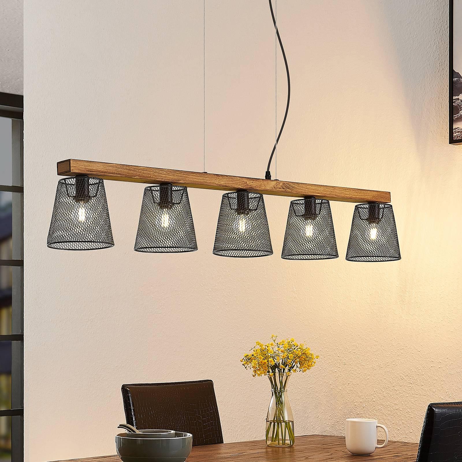 Lindby Morlin lampa wisząca, 5-punktowa