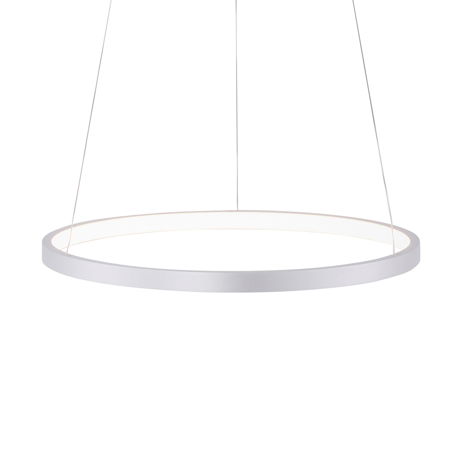 LED-pendellampe Circle, sølv, Ø 39 cm
