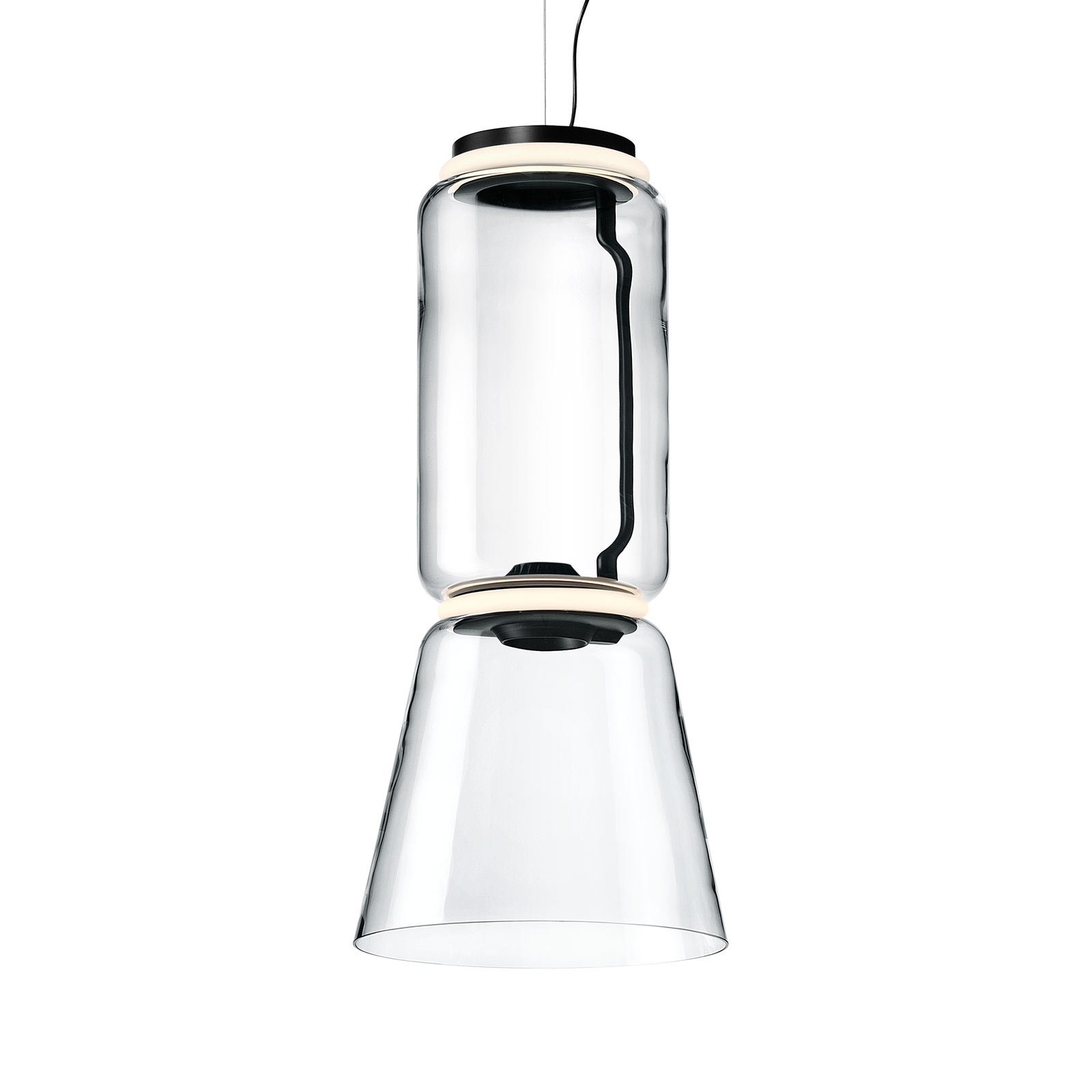 FLOS Noctambule -riippuvalo 1 Low Cylinder & Cone