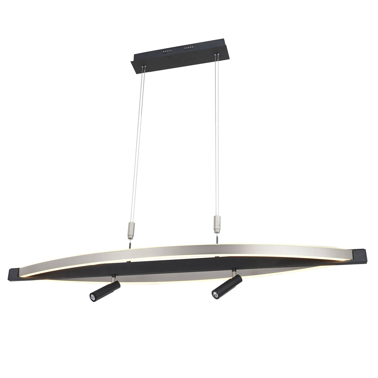 Lucande Matwei suspension LED, ovale, nickel
