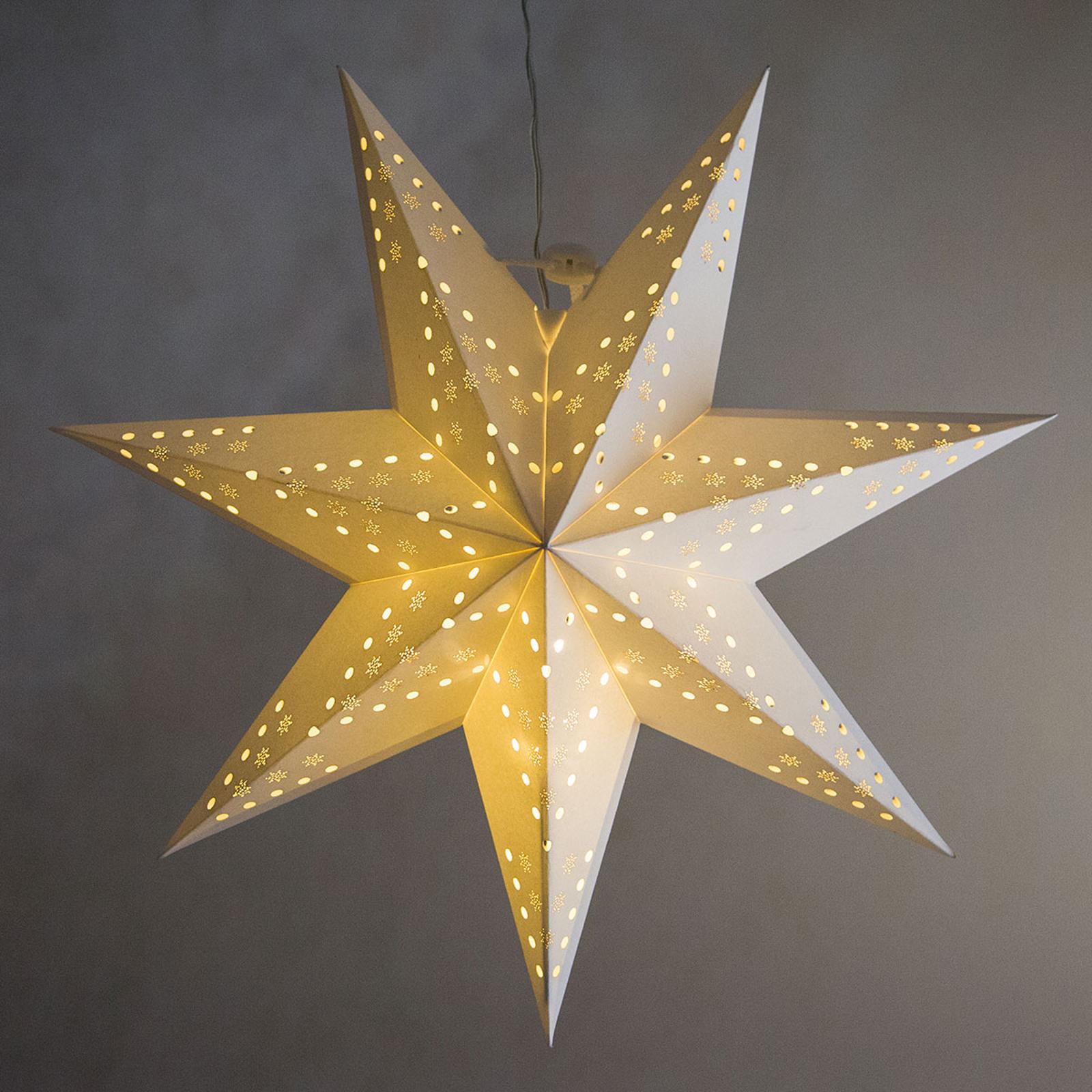 Motif ajouré flocons - étoile LED Cellcandle blanc