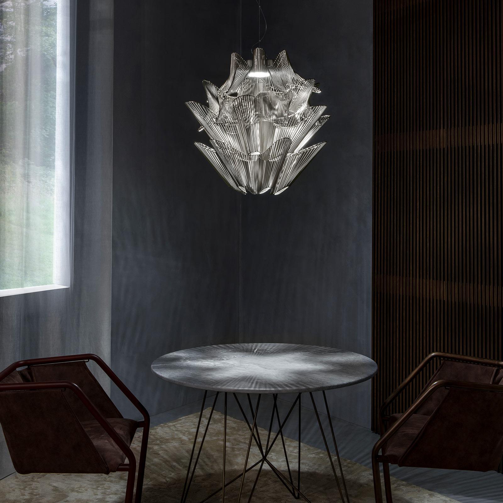 Terzani Moiré lampa wisząca LED nikiel