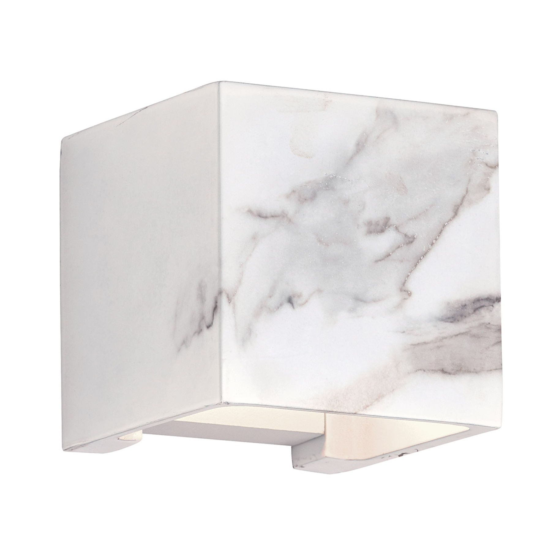 LED buitenwandlamp Davos met marmerdecor wit