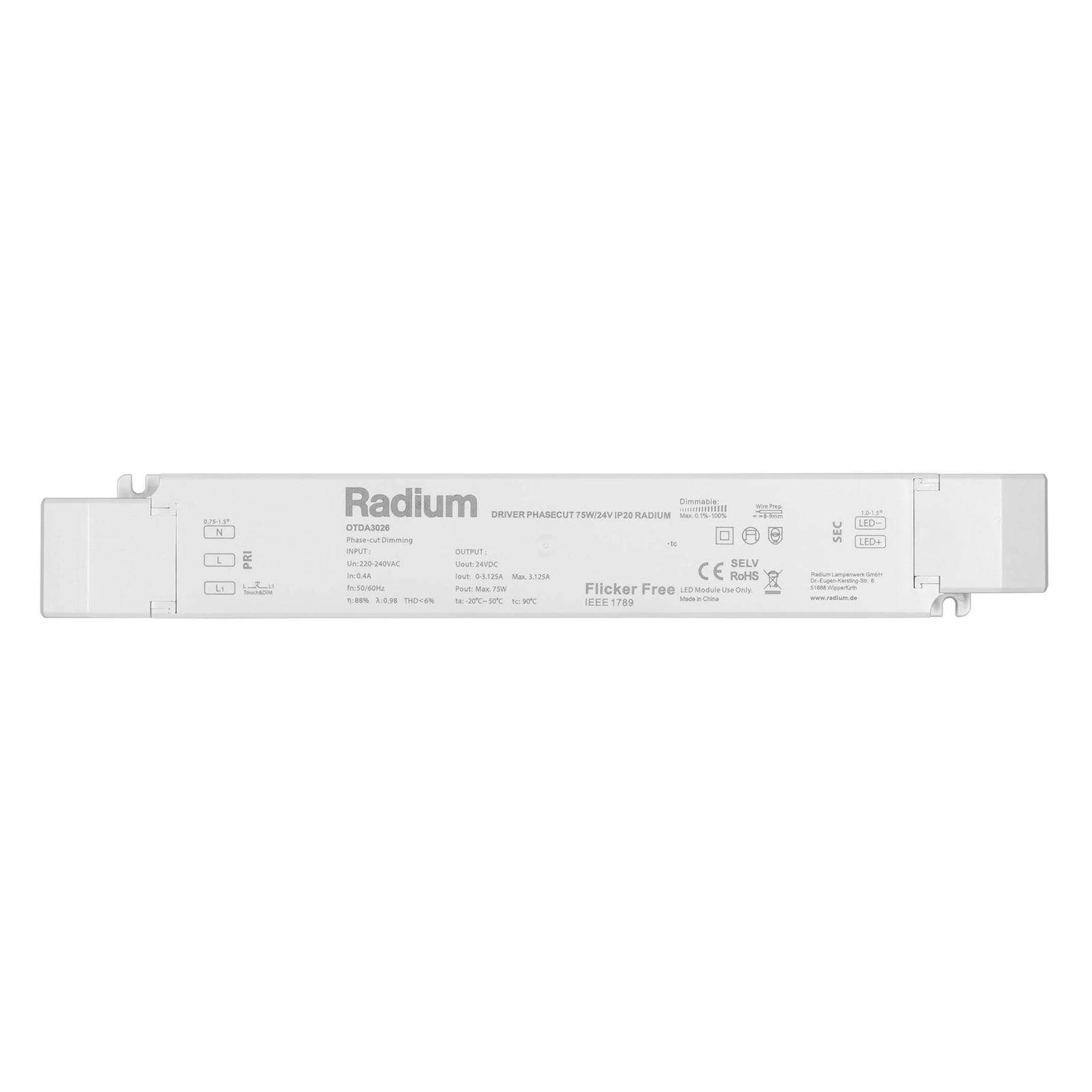 LED-Netzteil Radium OTDA 24V-DC, 75 W
