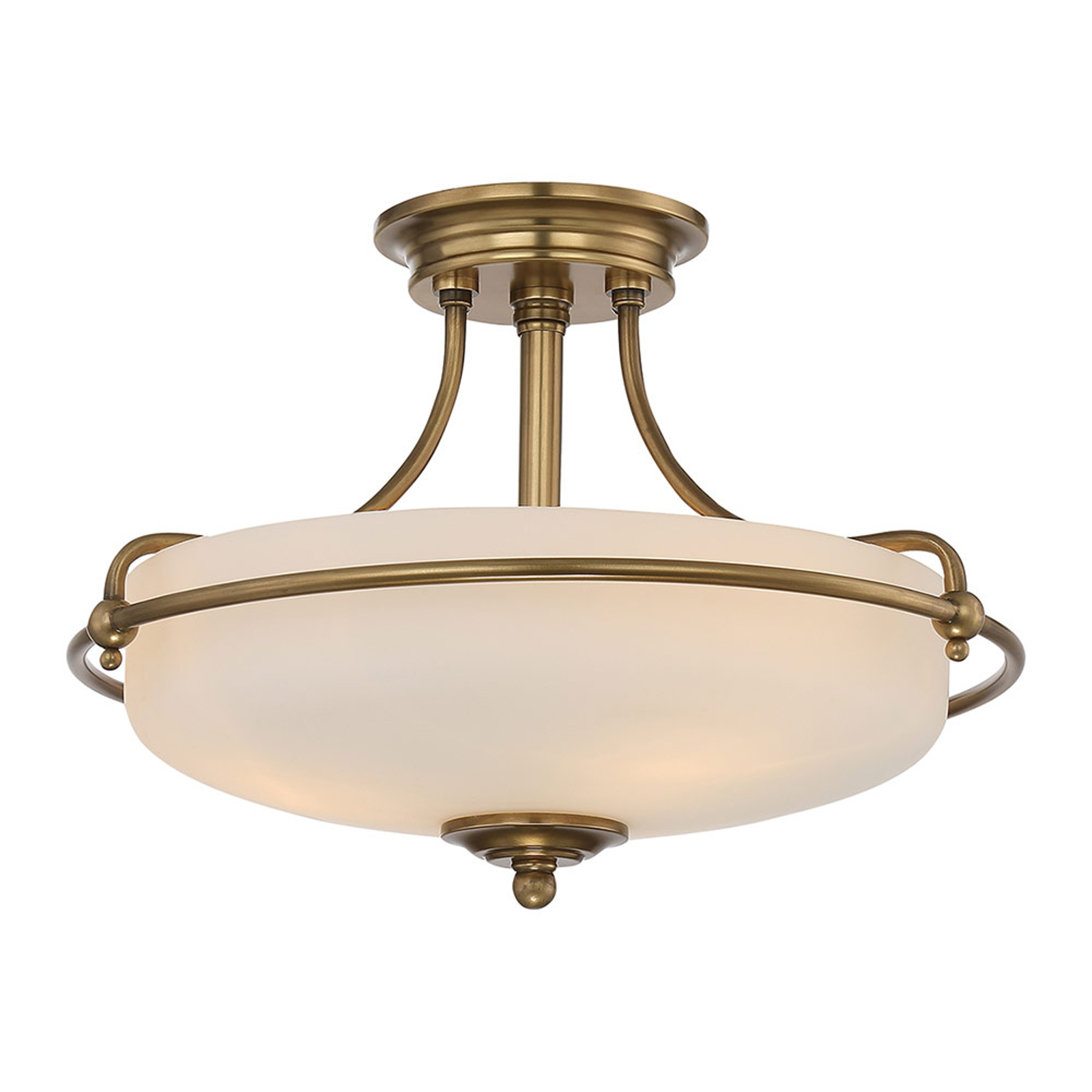 Deckenlampe Griffin mit Abstand, messing, Ø 42 cm