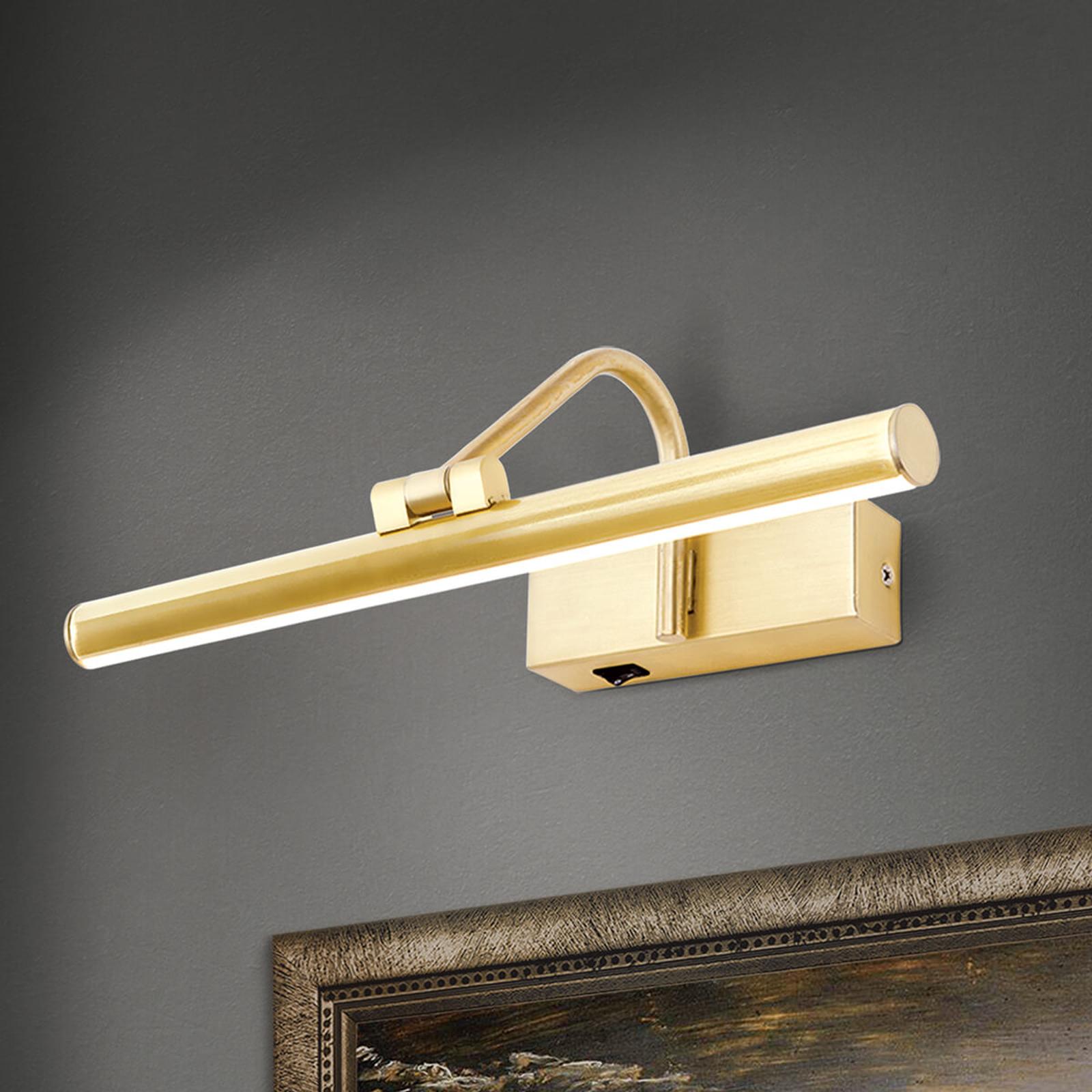 Gyllene LED-tavelbelysning Sofia – 30cm
