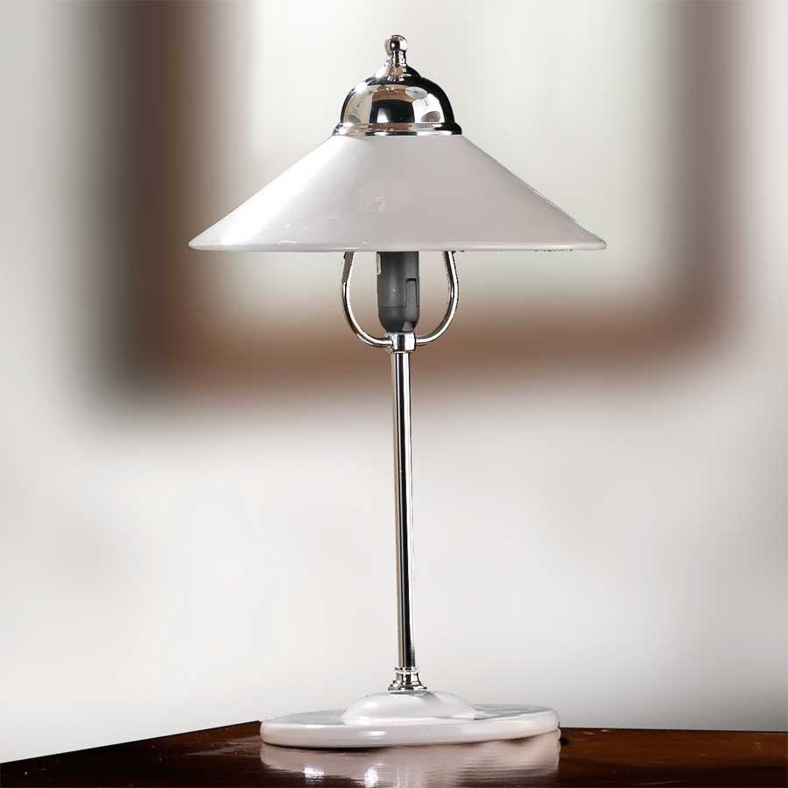 Lampa stołowa GIACOMO z ceramicznym kloszem