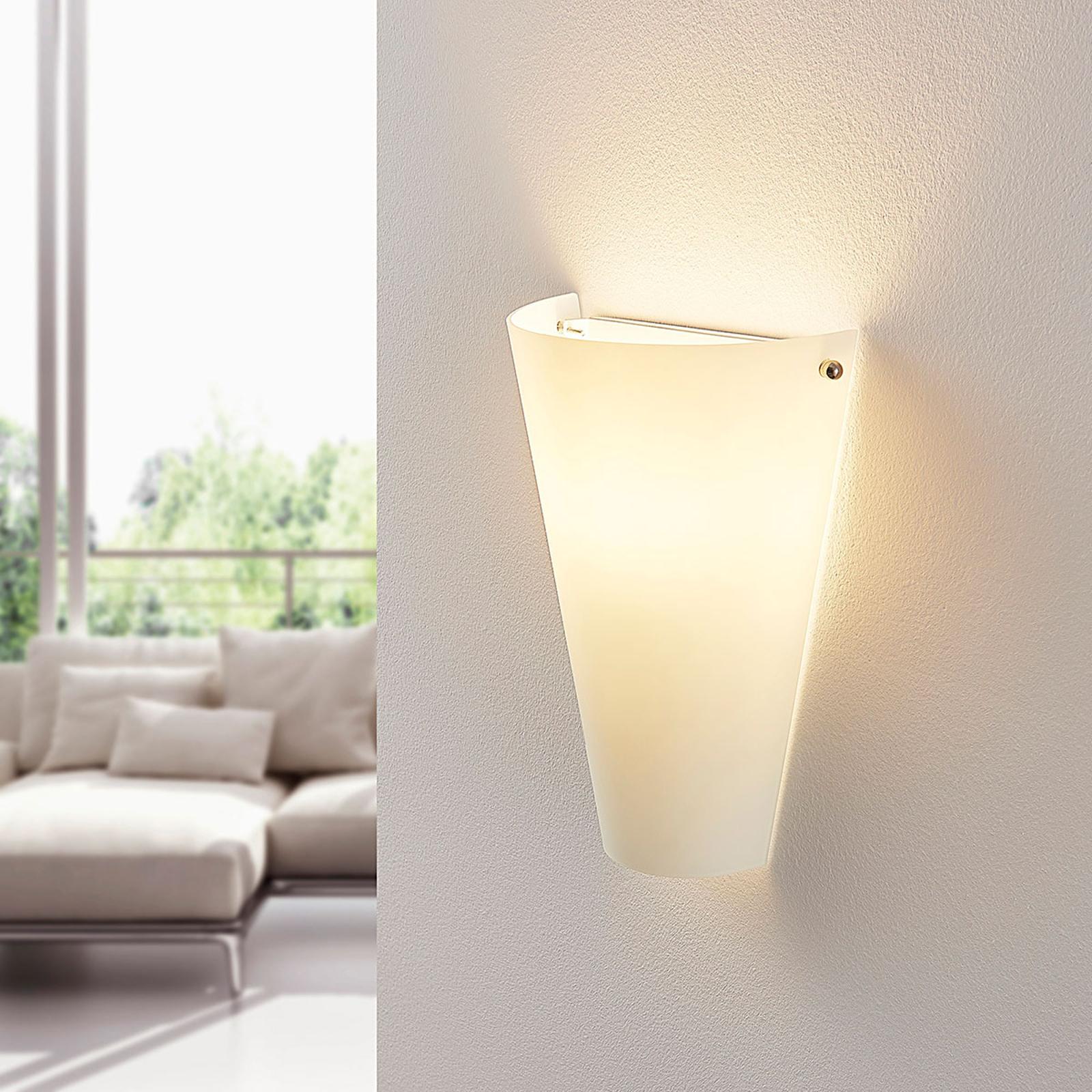 Opalglaswandleuchte Alia mit E14-LED