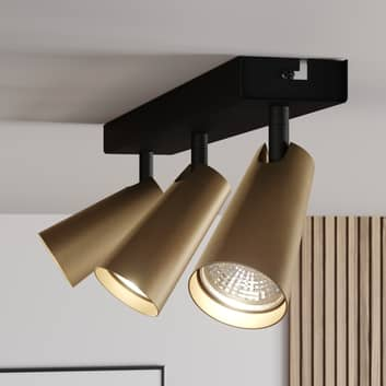 Lucande Angelina stropní světlo mosaz-zlatá, 3žár.