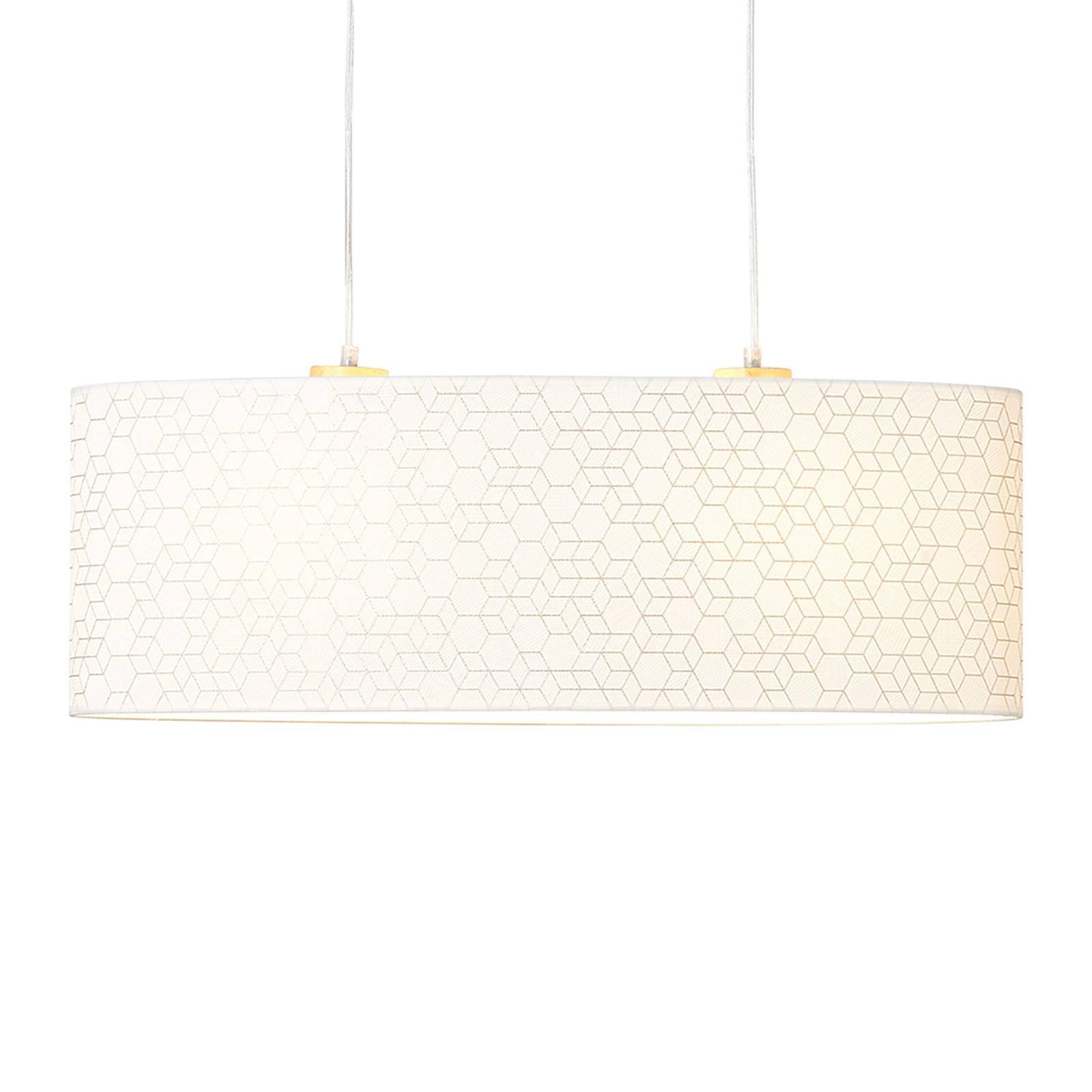 Suspension Galance, blanche, 70 x 26cm