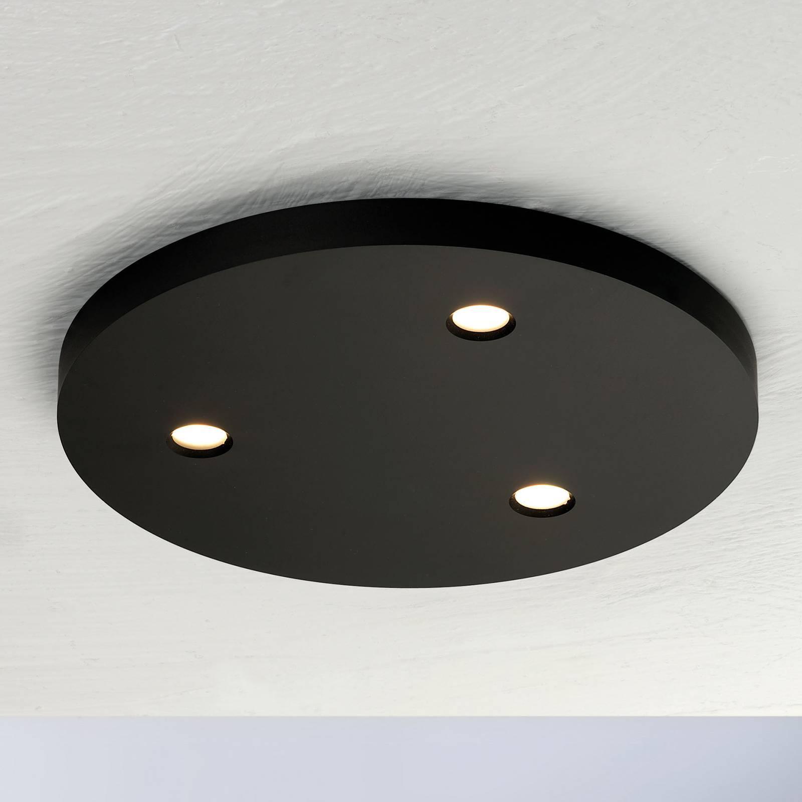 Bopp Close lampa sufitowa LED 3-pkt okrągła czarna