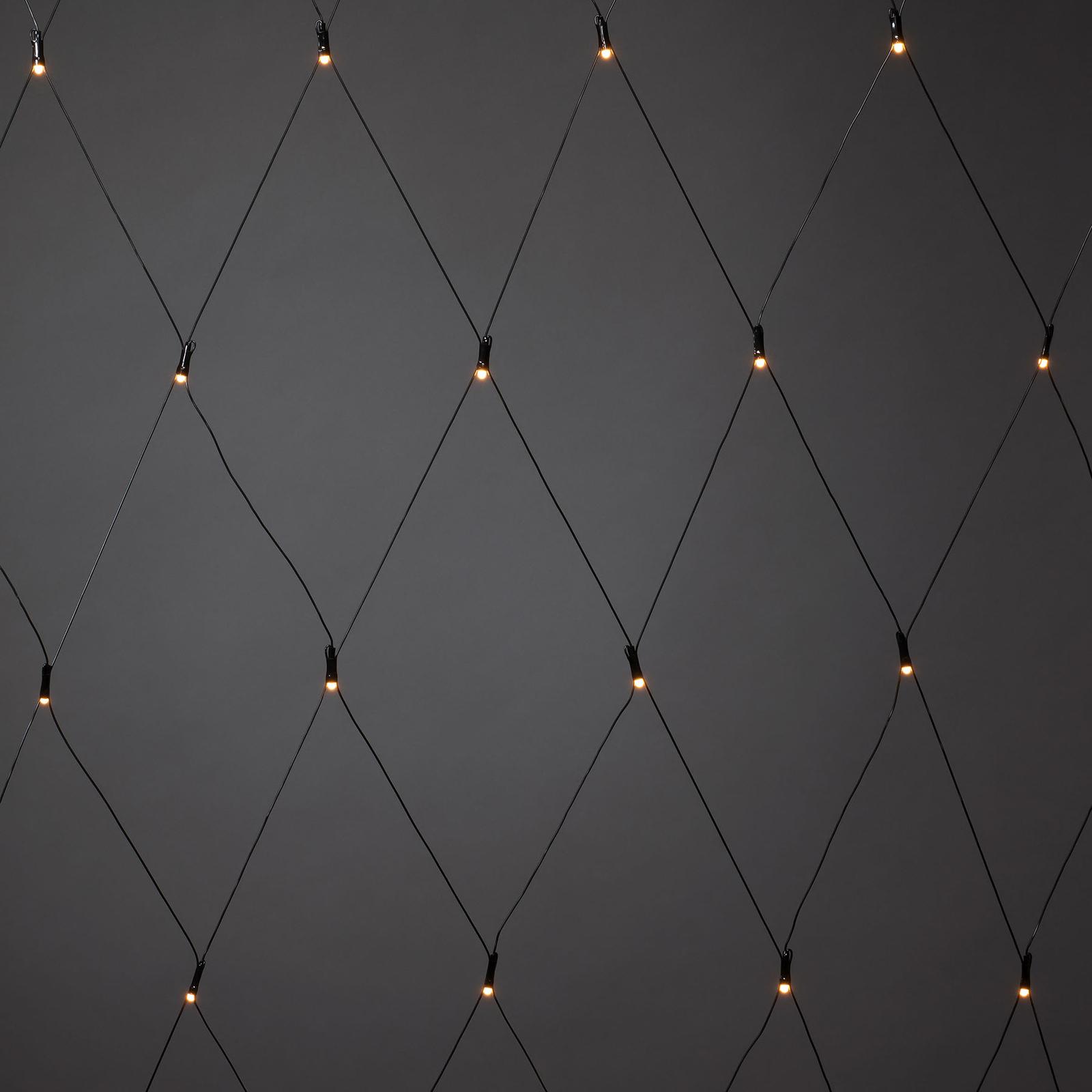 LED-ljusnät för utomhusbruk, 32 lampor 100x100 cm