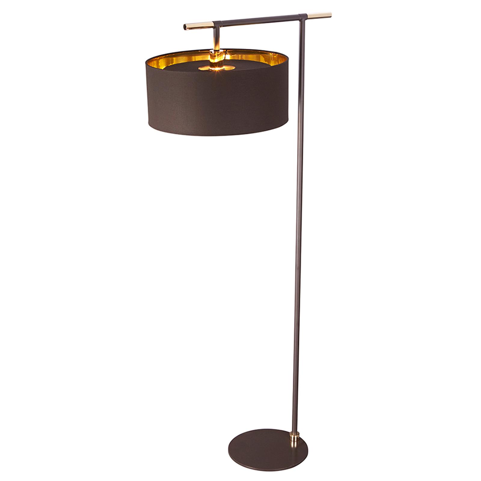 Mooie stoffen vloerlamp Balance