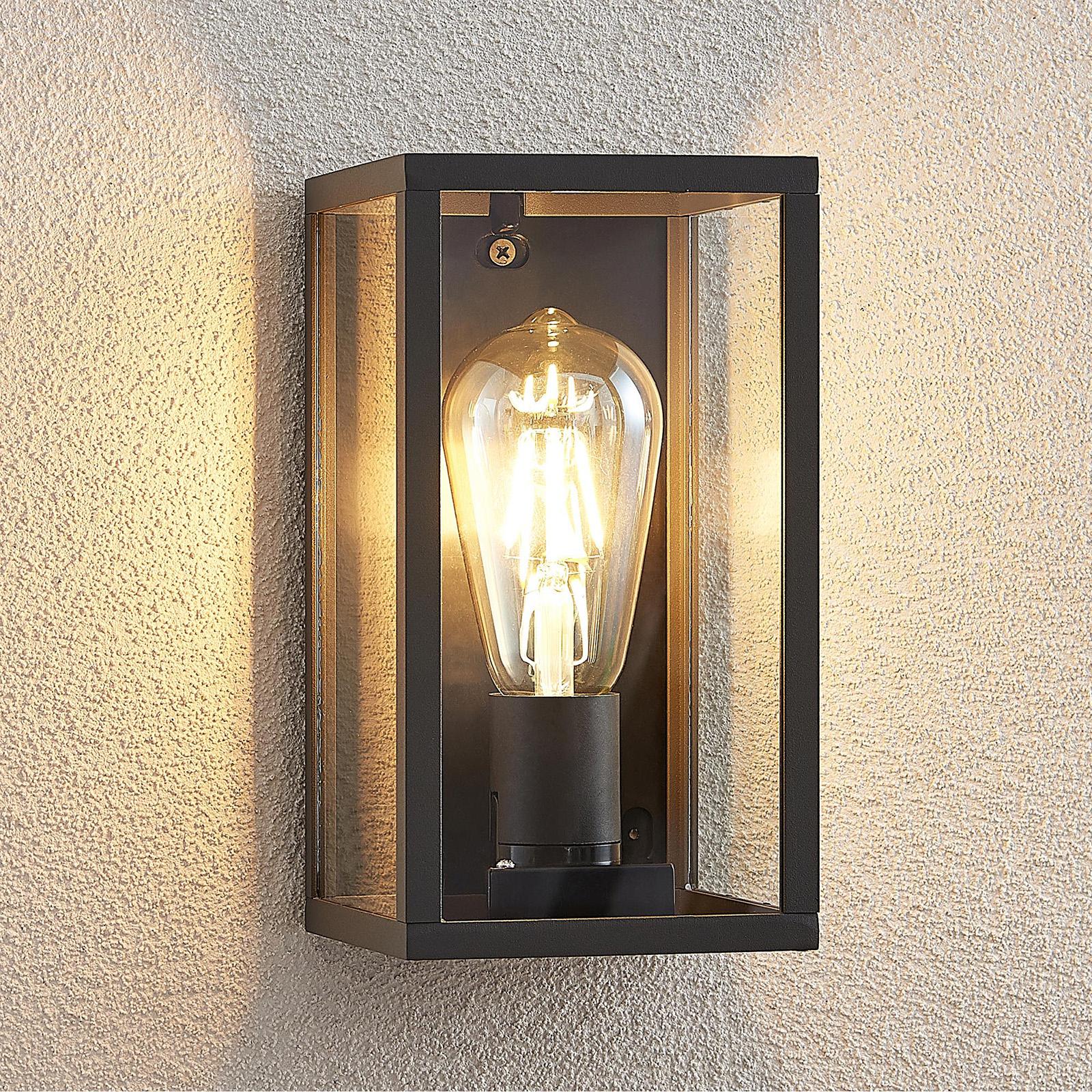 Lindby Filimon Außenwandlampe in Dunkelgrau, E27 kaufen