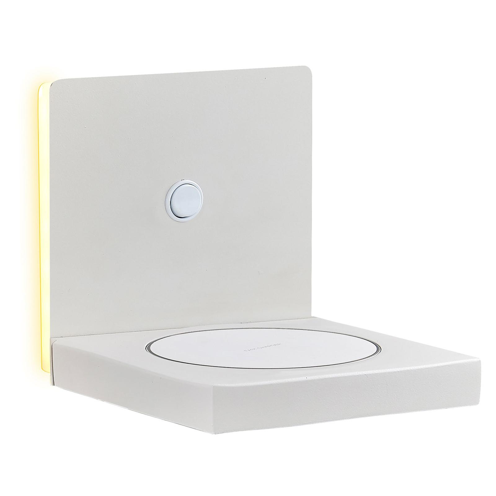 Applique LED Zanzibar avec chargeur, blanche