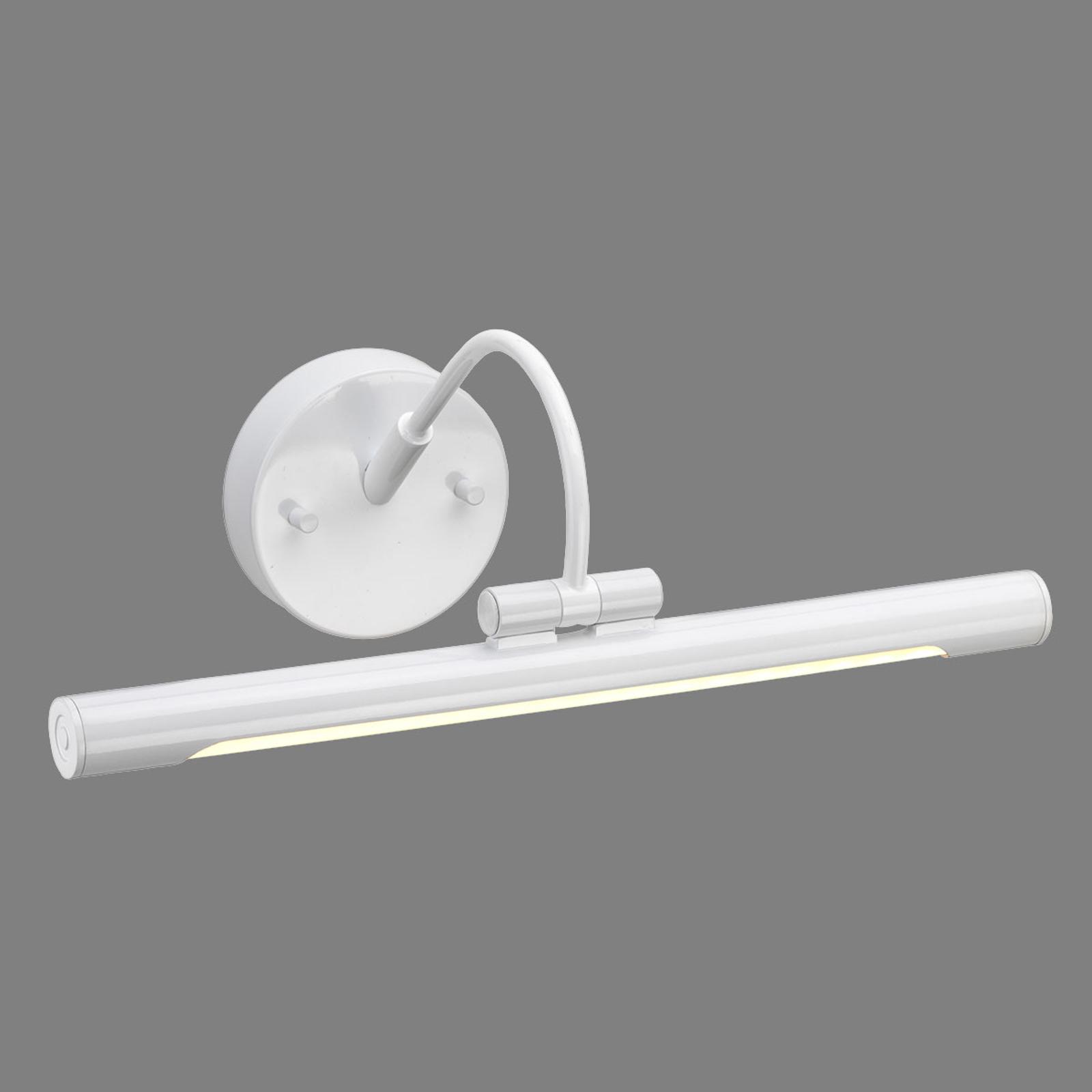 Applique pour tableau LED Alton en blanc, 39 cm