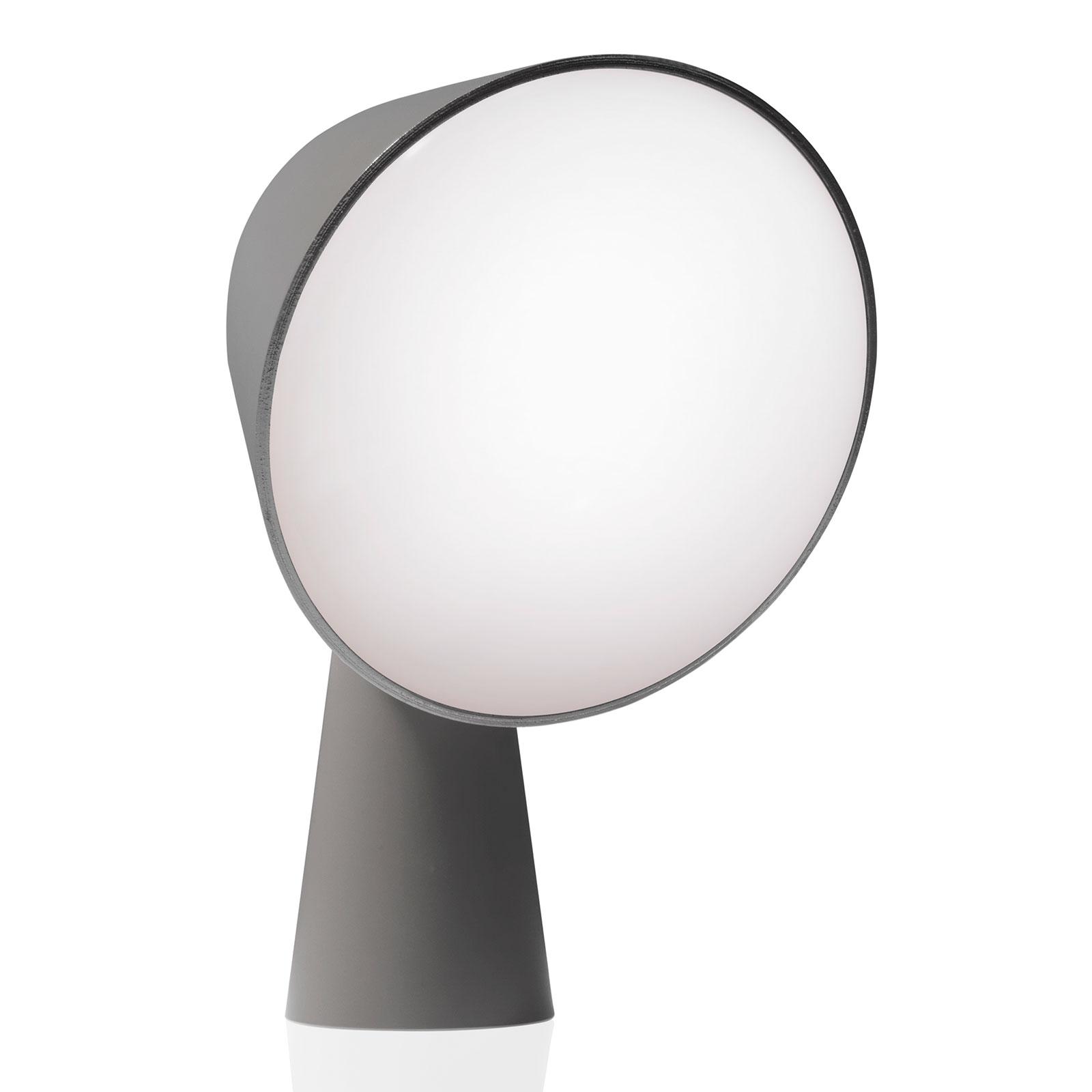 Foscarini Binic designer-bordlampe, antrasitt