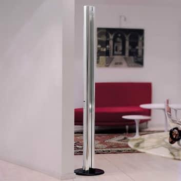 Lampa stojąca LED Megaron, aluminium lśniący