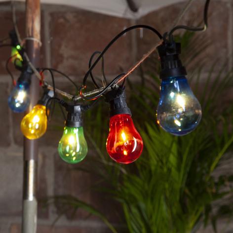 LED-Lichterkette Circus Filament, schwarz/bunt