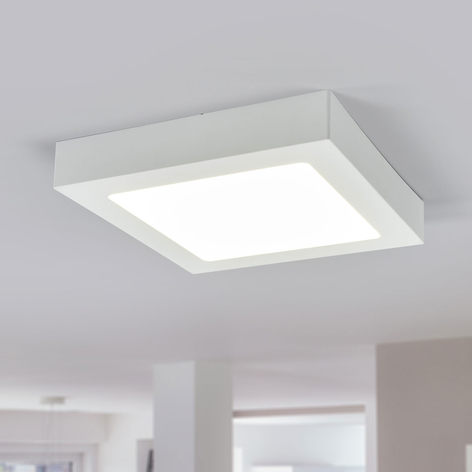 Plafonnier LED Marlo blanc 4000K angulaire 23,1cm