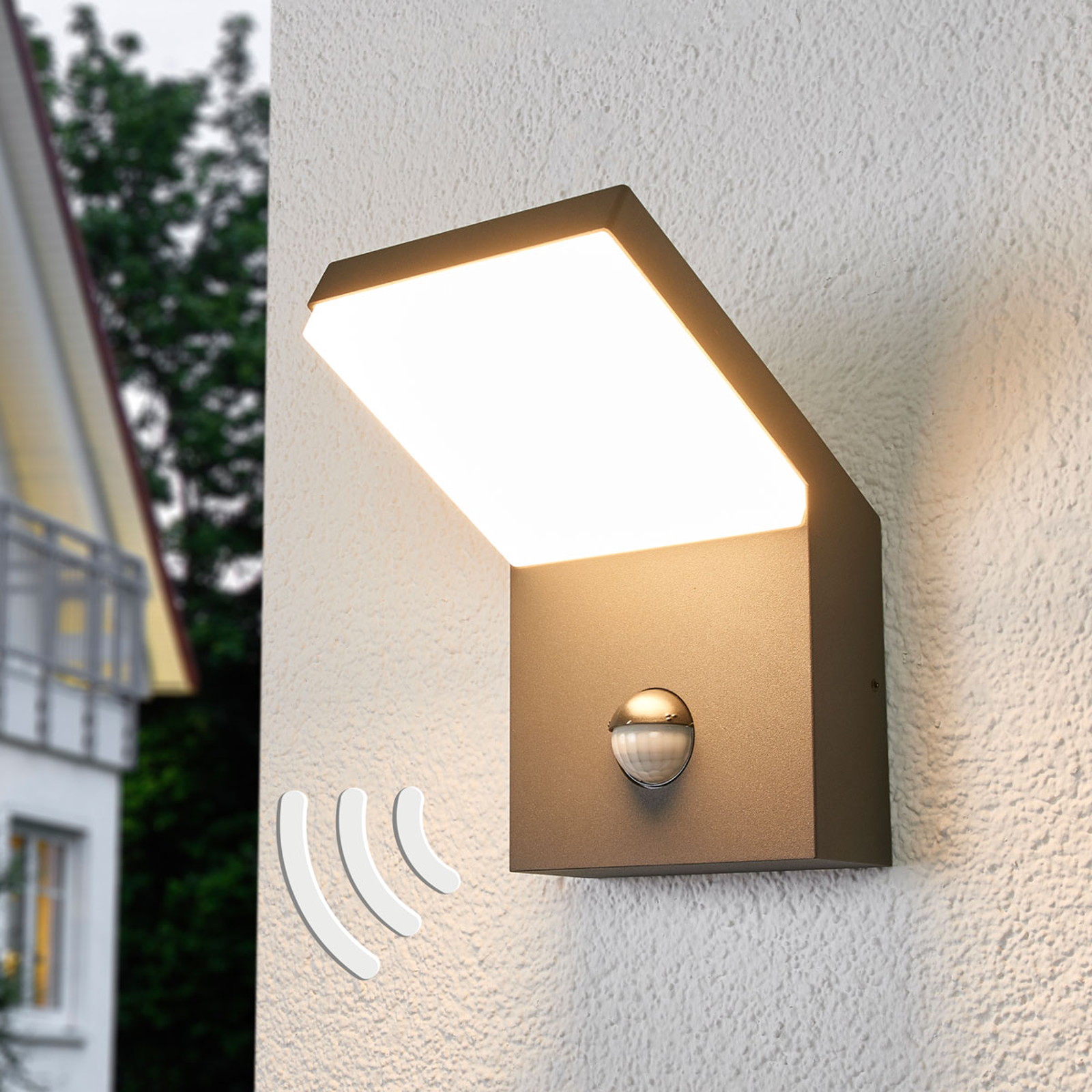 Yolena - LED-utevegglampe med sensor